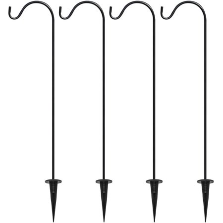 Sorbus Shepherd's Hooks, Set of 4 Garden Planter Stakes for Outdoor Decor, Plants, Lights, Lanterns, Flower Baskets and More