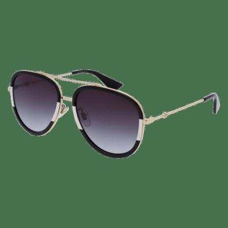 b37a97e8018 Gucci - Gucci GG0062S 006 Gold Black Aviator Sunglasses - Walmart.com