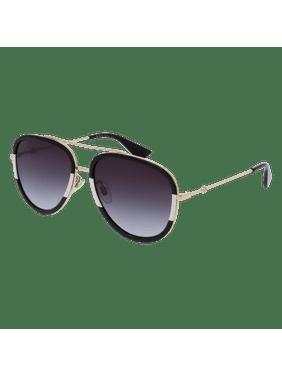 6becb82c56e Product Image Gucci GG0062S 006 Gold Black Aviator Sunglasses