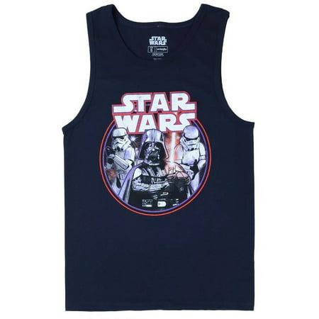 Star Wars Retro Lord Vader Mens Black Tank Top Shirt | S
