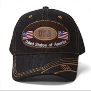 USA Emblem Denim Adjustable Cap