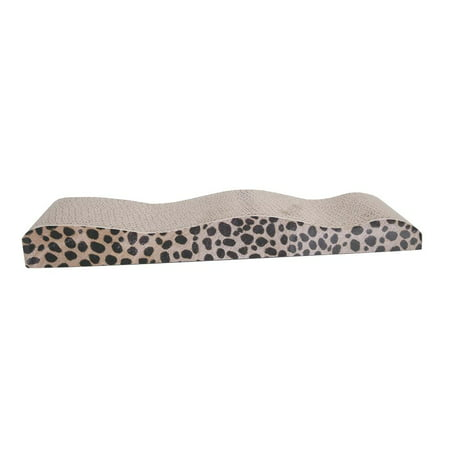 Ktaxon New Wave Shape Dual Sides Corrugated Cardboard Cat Scratching Bed Pad with Catnip