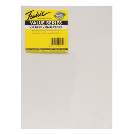 Fredrix Archival Watercolor Canvas (Fredrix Value Series Cut Edge Canvas Panel, 9 x 12 in, White, Pack of 25)