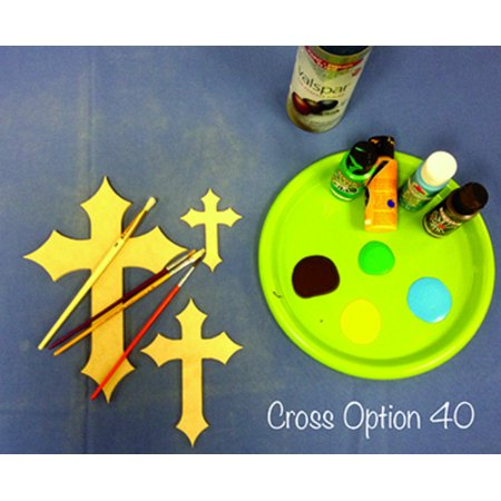Unfinished Wood Cutouts (Wood Crosses for Crafts, 22'' Wood Cross Cutout, Unfinished DIY)