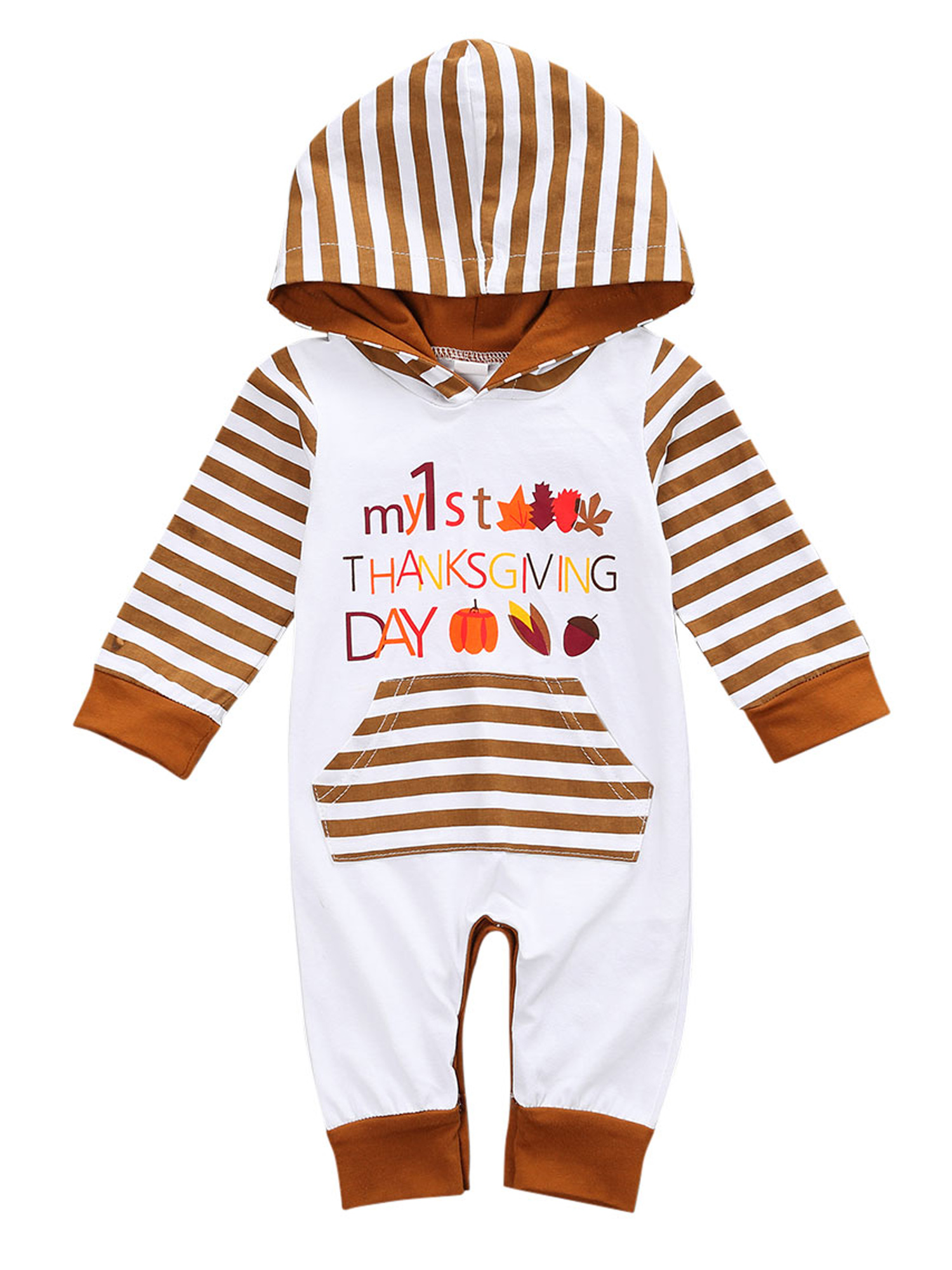 Shalofer Thanksgiving Baby Boy Romper Infant Baby Girl Turkey Jumpsuit