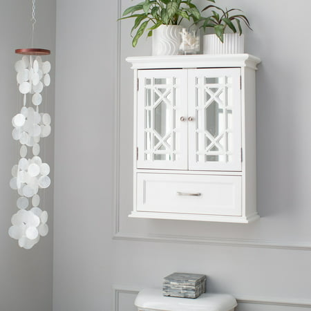 Belham Living Florence Bathroom Wall Cabinet (White Bathroom Wall Cabinet)