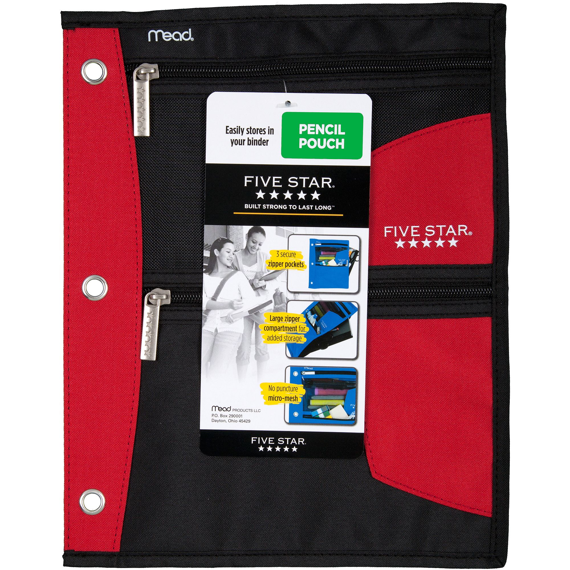 sc 1 st  Walmart & Five Star Flat Pencil Pouch Available in Multiple Colors - Walmart.com