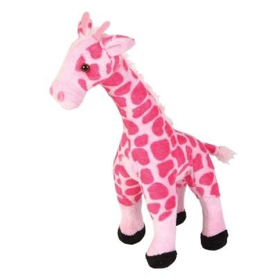 Smooth Pink Giraffe Stuffed Animal (11-inch) by, polyester By Adventure Planet