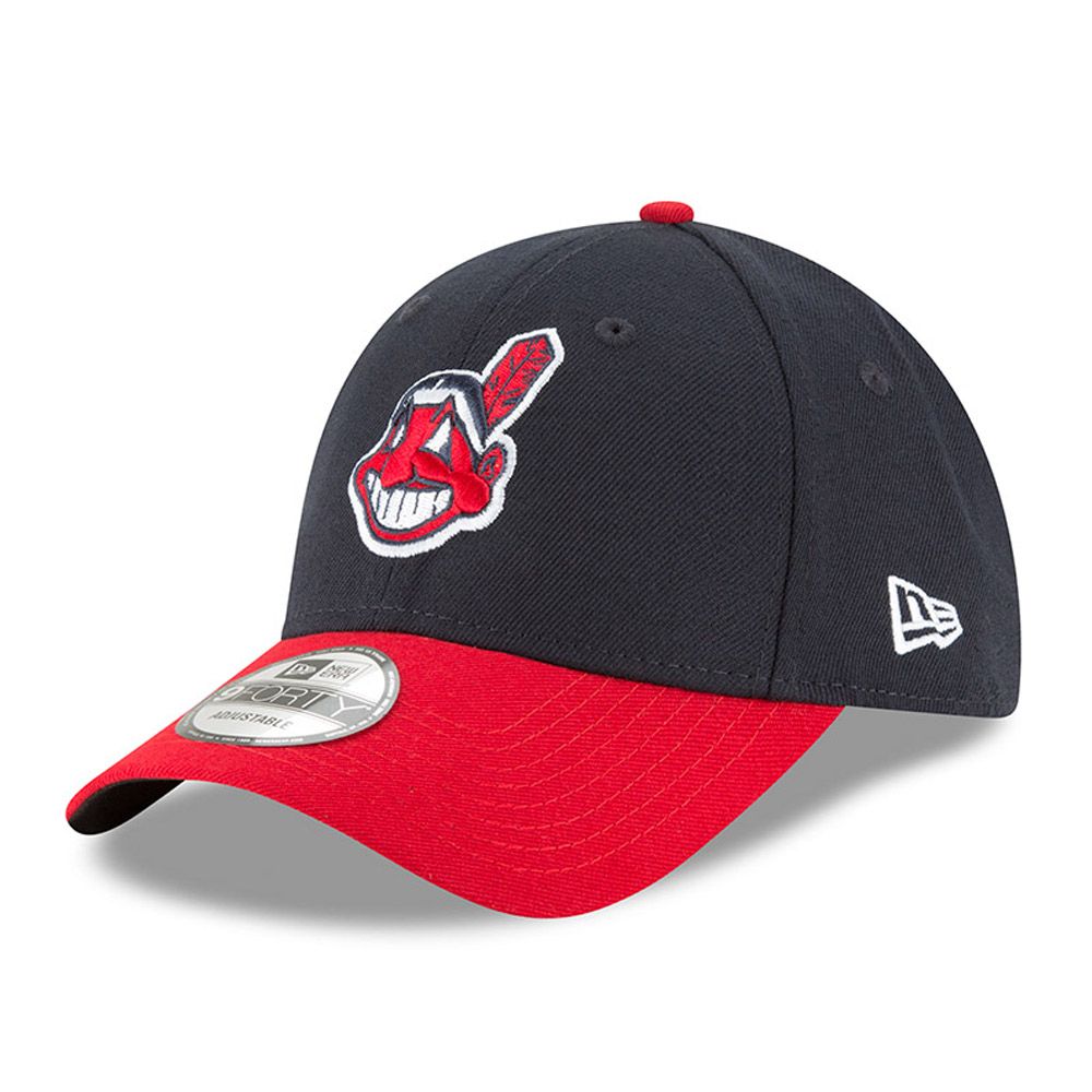 Cleveland Indians New Era Men's League 9Forty Adjustable Hat - Navy  - - OSFA