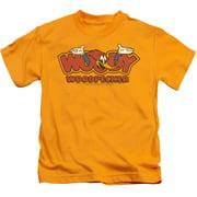 Woody Woodpecker In Logo Little Boys Shirt