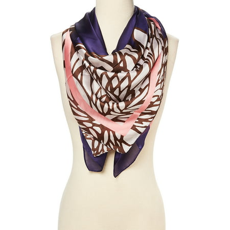 Brown Luxurious Silk Blend Scarfs for Women Abstract Pattern Casual Super Lightweight Fashion Scarves Comfy and Warm Spring Scarf Summer Fall Season Evening Party Accessory Gift Ideas by Oussum](Fall Ideas)