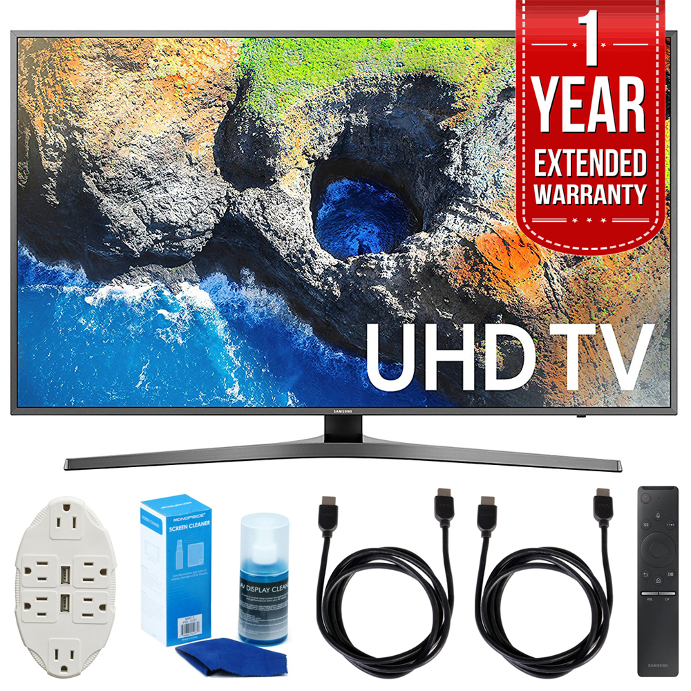 "Samsung UN55MU7000 54.6"" 4K Ultra HD Smart LED TV 2017 Model with 1 Year"