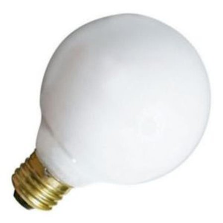 Satco S3441 - 40 Watt Light Bulb - G25 Globe - White - 2,500 Life Hours - 340 Lumens - 120