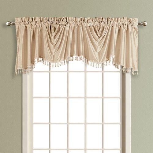 United Curtain Anna Lined Faux Silk Austrian Valance