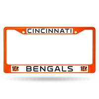 Rico Industries - NFL Color License Plate Frame, Cincinnati Bengals