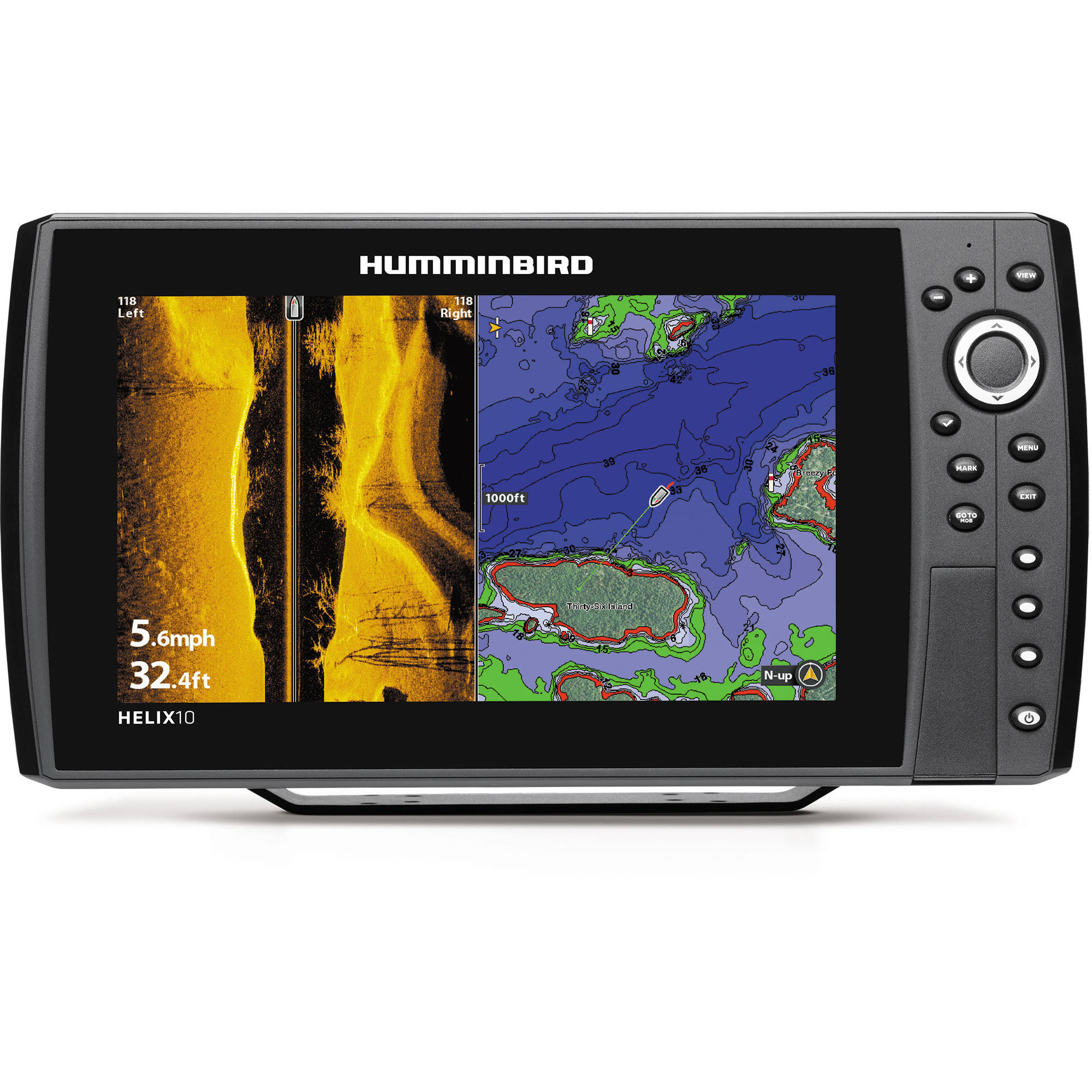 Humminbird HELIX 10 SI GPS Fishfinder Combo with Side Imaging