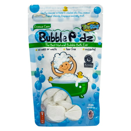TruKid Bubble Podz Eczema Care Bubble Bath, Unscented, 24 Ct](Bubble Bash 2)