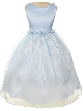 Product Image Rosebud Flower Bow Ribbons Little Girl Flower Girls Dresses 18fcec5e9