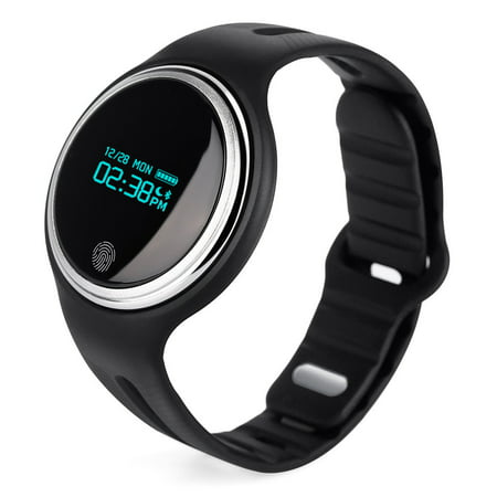 Waterproof Bluetooth Smart Watch Bracelet Wristband Heart Rate Monitor Sport Fitness Activity Tracker   Black