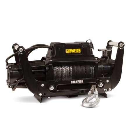 12000 lbs Truck & SUV Dyneema Synthetic Rope Winch Kit with Hawse Fairlead and Speed Mount 2 in. Hitch Adapter  12V DC