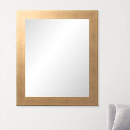 BrandtWorks Brushed Gold Rectangular Wall Mirror