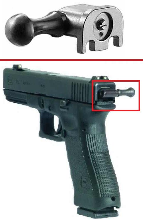 Glock Steel Tactical Pull Assist Reloading Cocking Handle For Glock Pistols Hangun by
