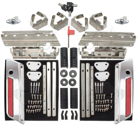 Set Chrome Saddlebag Lock Latch & Hardware Rejuvenation Kit Harley Touring