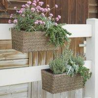 Coral Coast Westmore Wicker Balcony Planter