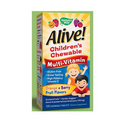 Alive Childrens Multi Vitamin Chewable Natures Way 120 Chewable