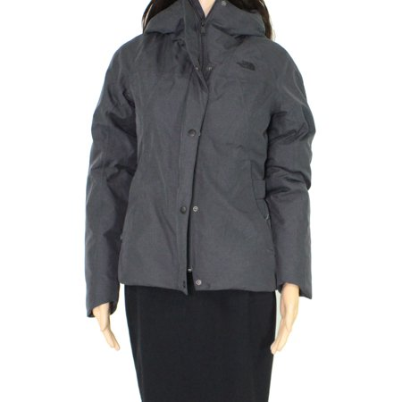 Womens Jacket Full-Zip Buttoned Hooded XS