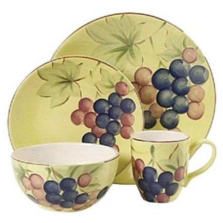 Harvest 16 Piece (Home Fruitful Harvest Grapes 16 Piece Dinnerware Set)