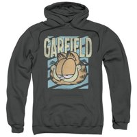Trevco Garfield-Rad Garfield Adult Pull-Over Hoodie, Charcoal - XL