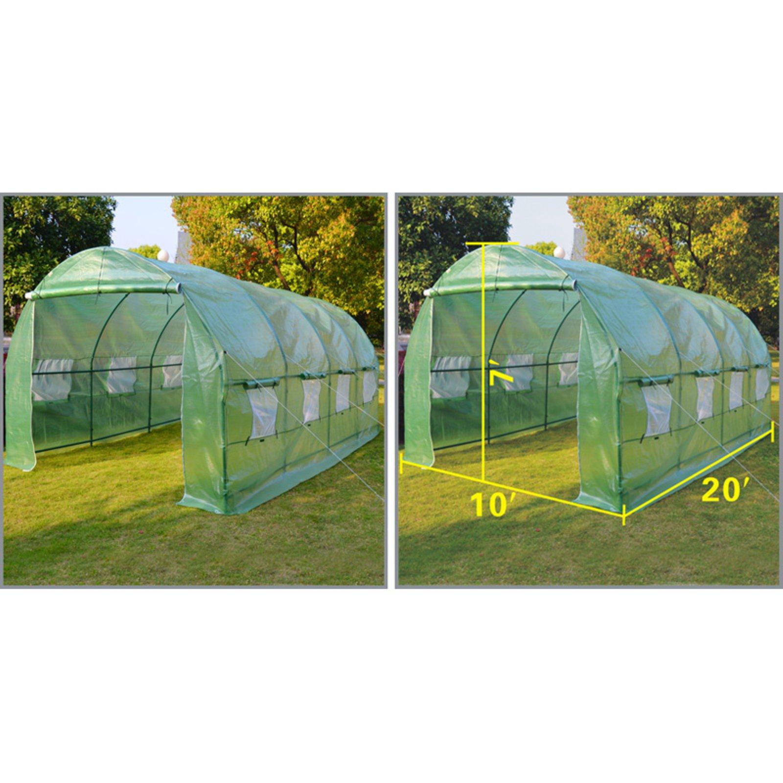 Sunrise Umbrella Outdoor Plant Gardening 20L x 10W x 7H ft. Walk-In Greenhouse