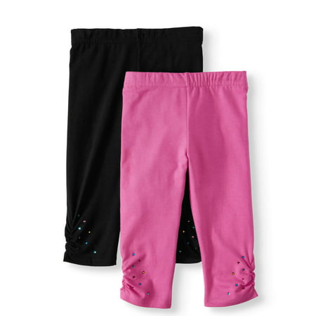 365 Kids From Garanimals Capri Leggings, 2-Pack (Little Girls & Big Girls) - Girls Hot Leggings