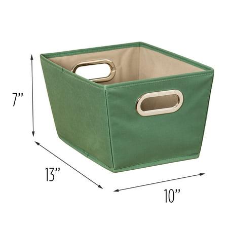 Honey-Can-Do Small Storage Bin, Green](Green Storage Bins)
