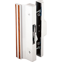 Prime-Line C 1118 Anti-Lift Sliding Door Handle Set, White Aluminum/Die Cast
