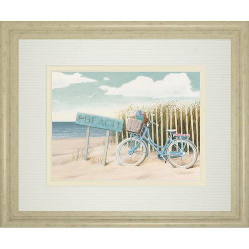 Classy Art Wholesalers 'Beach Cruiser II' by James Wiens Framed Painting Print by Classy Art Wholesalers