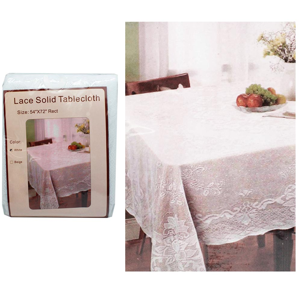 """New Luxury Damask Tablecloth Oblong Rectangle 54/"""" X 72/"""" Polyester Assorted Color"""
