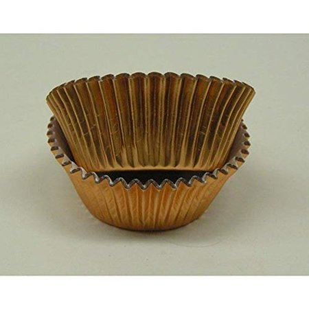 500pc Mini Size Copper Foil Baking Cup With Greaseproof Liner (Copper Tooling Foil)