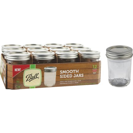 Ball Smooth-Sided Silver Lid Canning Jar - Mini Mason Jars In Bulk