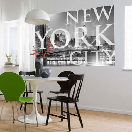 Brewster home fashions komar new york city wall mural for Brewster home fashions wall mural
