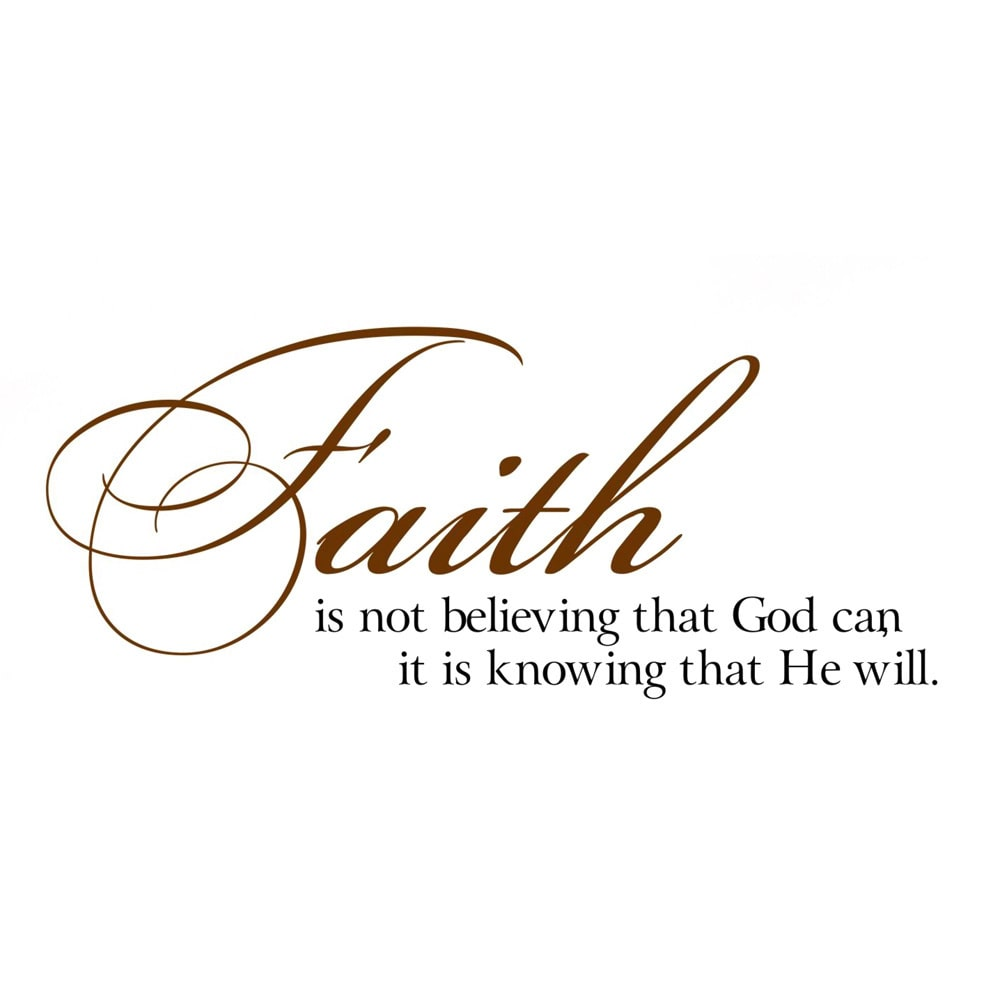 Everything Vinyl Decor Faith is knowing God will Vinyl Wall Art