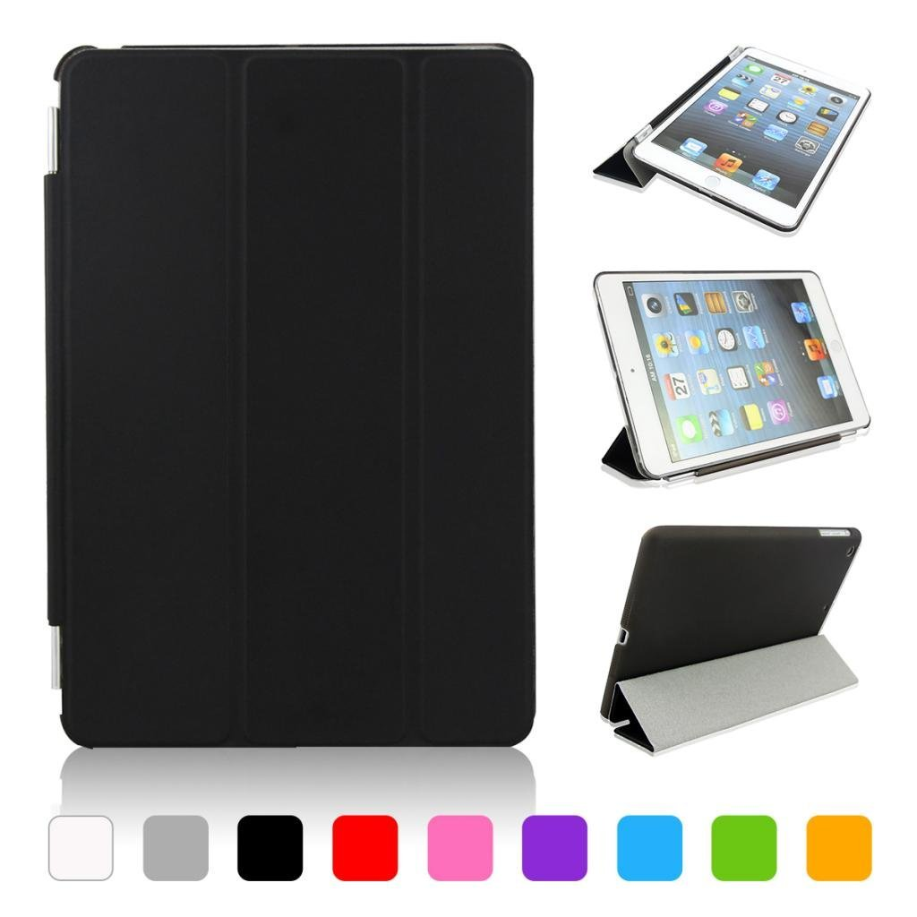 iPad mini 1/2/3 case cover,CoastaCloud Magnetic PU leather Ultra-thin Smart Cover + Hard Back Case For Apple iPad Mini2/with Retina Display & iPad Mini 3 Smart Case & Cleaning Cloth & Screen Protector