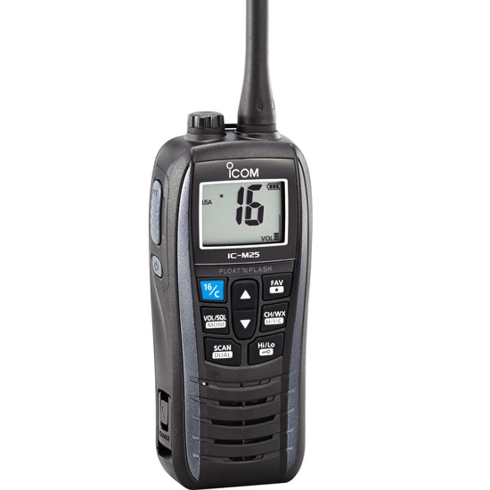 Icom M25 5W FLOATING VHF IN   METALLIC GRAY