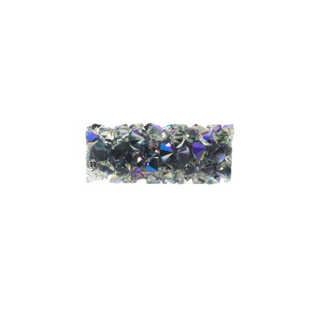 Swarovski Crystal, #5951 Fine Rocks Tube Bead without Metal Ends 15mm, 1 Piece, Crystal Paradise