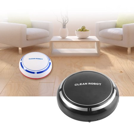 Robotic Cleaner,USB Charging Smart Automatic Robotic Household Floor Cleaner Dust Sweeping Machine Black ()