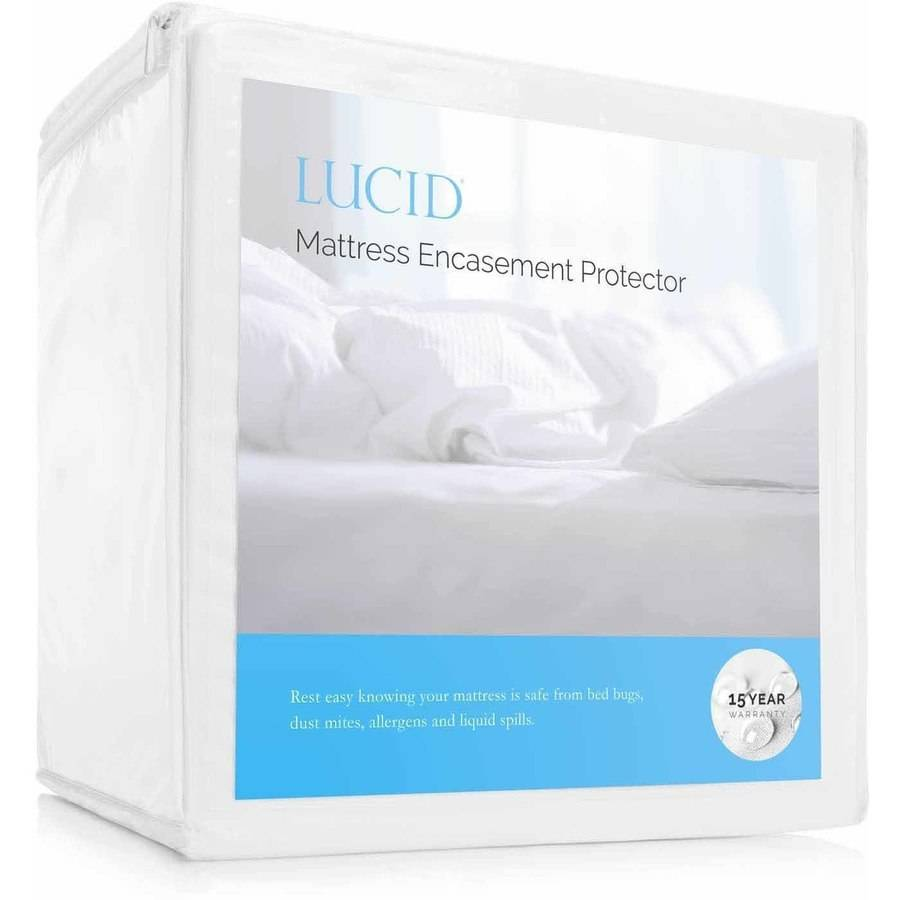 Lucid Zippered Mattress Encasement Bed Bug And Waterproof Protector Walmart Com Walmart Com