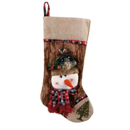 Christmas Snowman Stocking Holiday Festive Cute Hanging Decorations 22*46cm ()