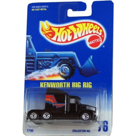 Kenworth Big Rig Hot Wheels Blue Card 1:64 Scale Collectible Die Cast Car Model - Kenworth Big Rig