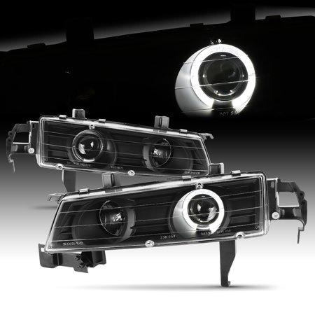 Honda Prelude Headlight Assembly - Fits 1992-1996 Honda Prelude JDM Black Halo Projector Headlights Left + Right
